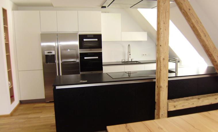 Dachgeschoss Küche küchenstudio münchen küchenstudio dachau küchenstudio garching bei
