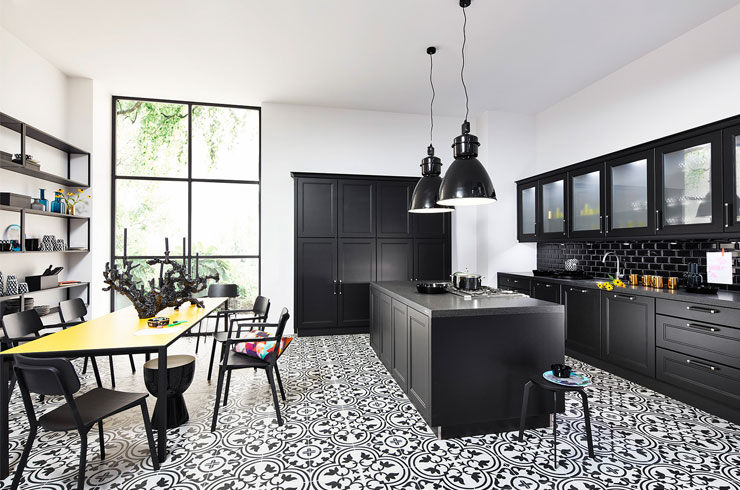 Nolte Küchen - nk20294 Windsor Lack schwarz softmatt